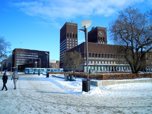 Im Osloer Rathaus wird jedes Jahr der Friedensnobelpreis verliehen.