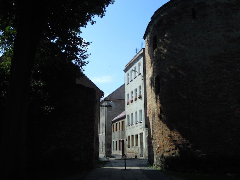 Alte Stadtmauer in Frankenstein (Zabkowice Slaskie) in Schlesien