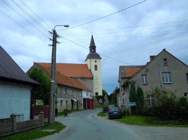 Kirche in Klein Kniegnitz, Schlesien