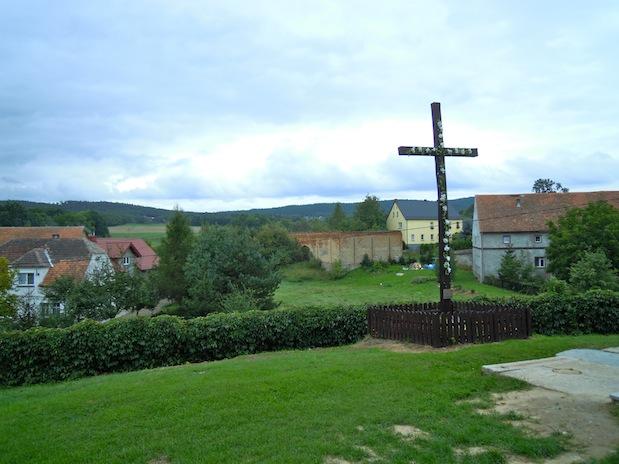 Blick vom Friedhof über Klein Kniegnitz