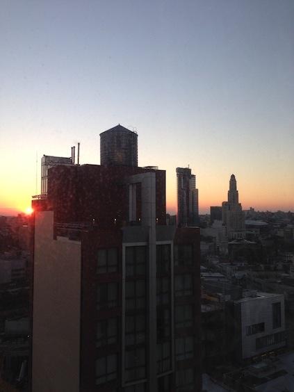 2. Tag unserer 24 Stunden in NYC - Sonnenaufgang über Brooklyn