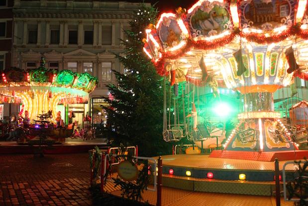 Karussels auf dem Mindener Weihnachtsmarkt