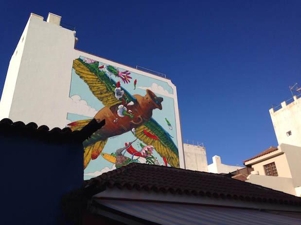 Bild des Street-Art-Künstlers Liqen in Puerto de La Cruz, Teneriffa