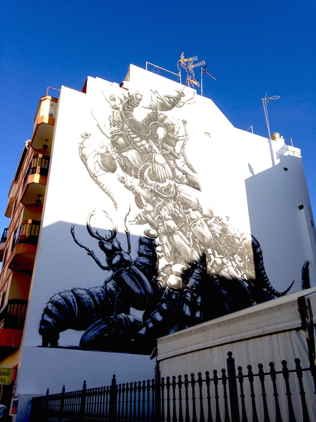 ROA-Streetart in Puerto de la Cruz, Teneriffa