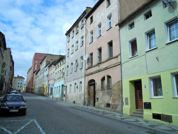 Straße in Frankenstein (Zabkowice Slaskie) in Schlesien