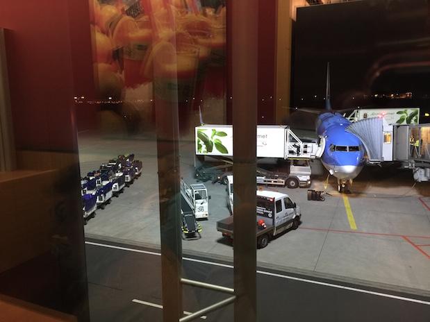 Flugausfall: Gepäck und Essen werden wieder aus dem Flugzeug ausgeladen