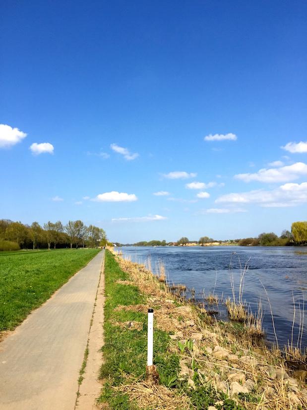 Radtour auf Weserradweg von Minden nach Petershagen