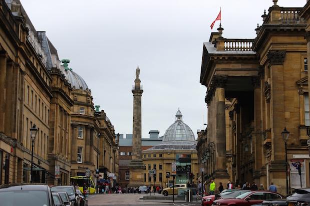 Grainger Town - Grey Street im alten Stadtzentrum von Newcastle
