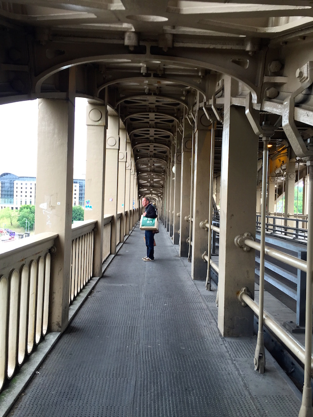 Fußweg auf der High Level Bridge