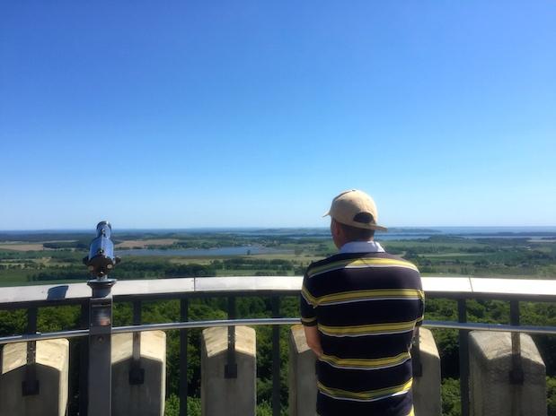 Ausblick vom Aussichtsturm des Jagdschloss Granitz