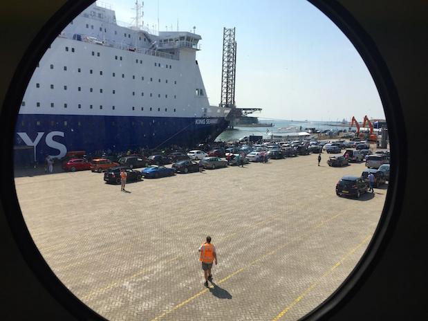 Boarding der King Seaways im Hafen von Ijmuiden