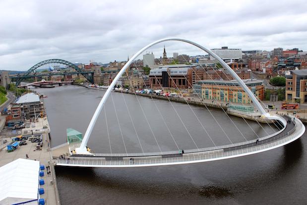 Millenium Bridge in Newcastle upon Tyne