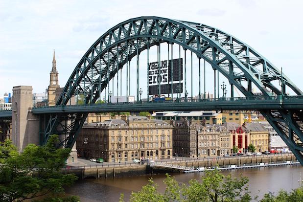 Hotel Hilton Newcastle Gateshead: Blick auf die Tyne Bridge