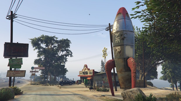 Diner mit Rakete am Senora Freeway in GTA5