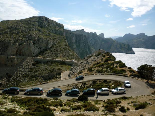 Parkplatz am Cap de Formentor