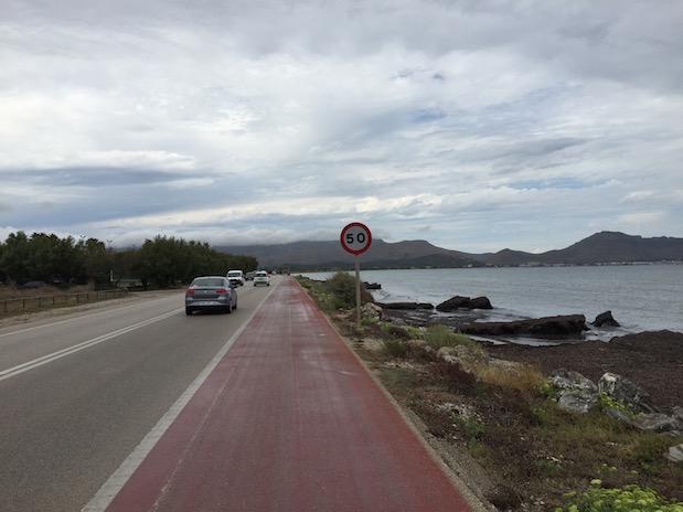 Radtour von Alcudia nach Port de Pollenca bei Regen auf Mallorca