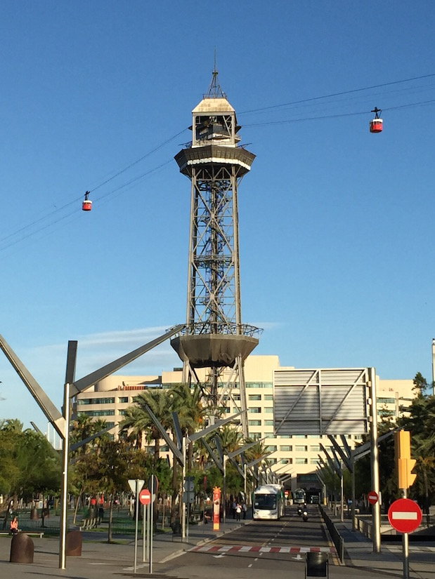 Hafen-Seilbahn in Barcelona