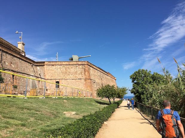 Rundweg um das Montjuïc-Kastell