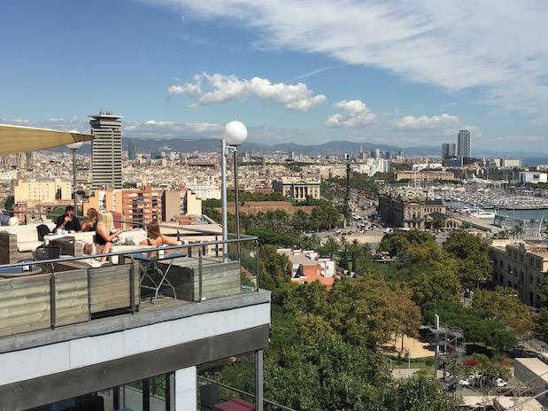 Montjuic - Ausblick von der Terrasse der Caféteria Miramar