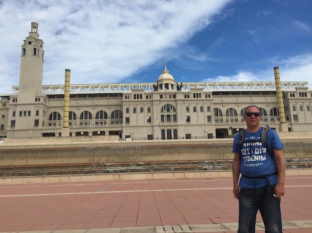 Einsam und verlassen: Das Olympiastadion in Barcelona
