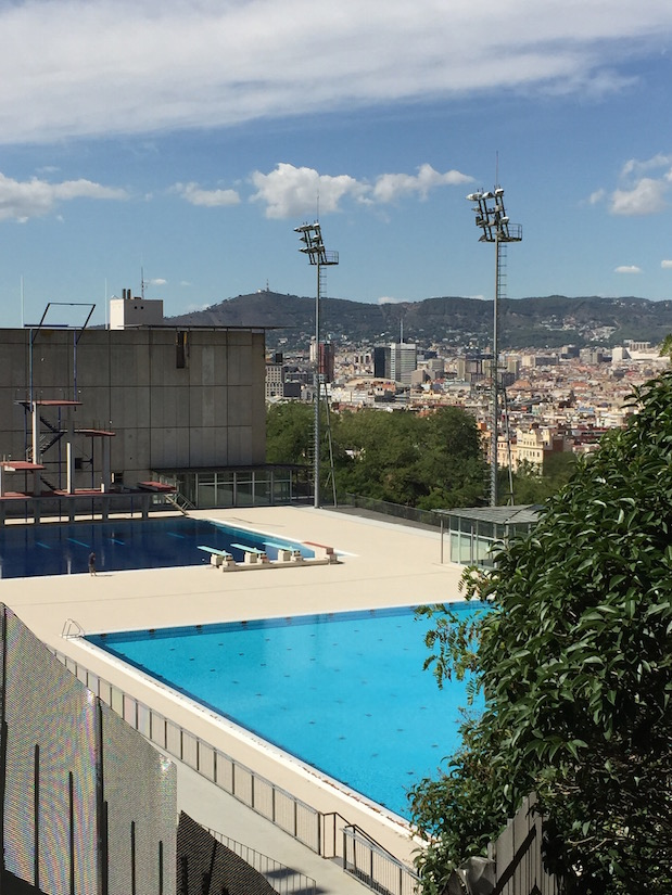 Olympisches Schwimmbad in Barcelona
