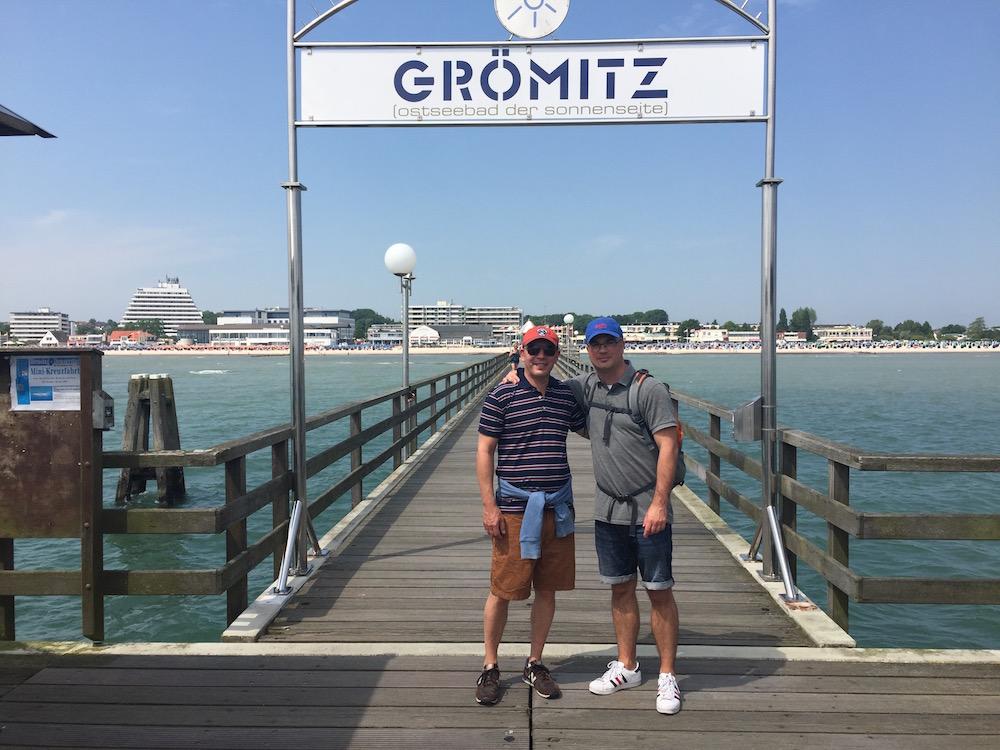 Auf der Seebrücke in Grömitz an der Ostsee