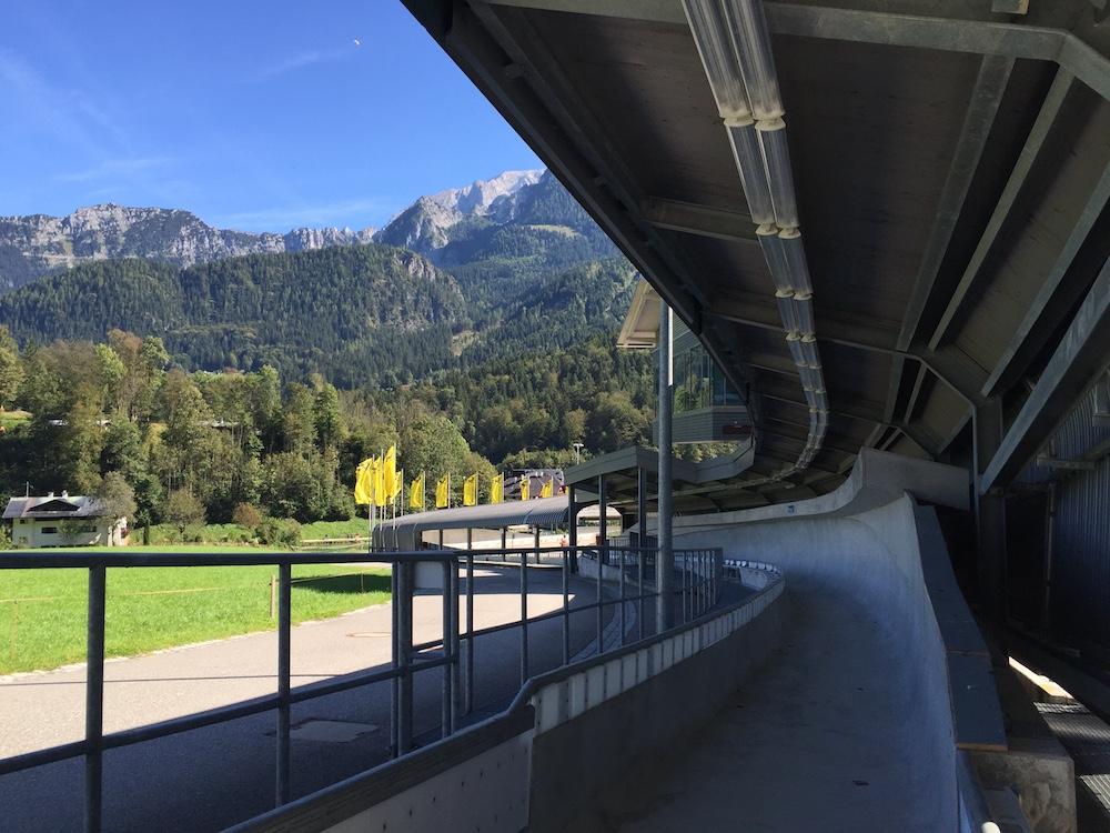 Besichtigung der Bobbahn am Königssee