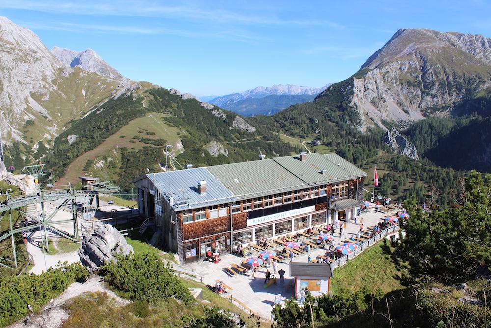 Blick vom Jenner-Gipfel auf die Bergstation