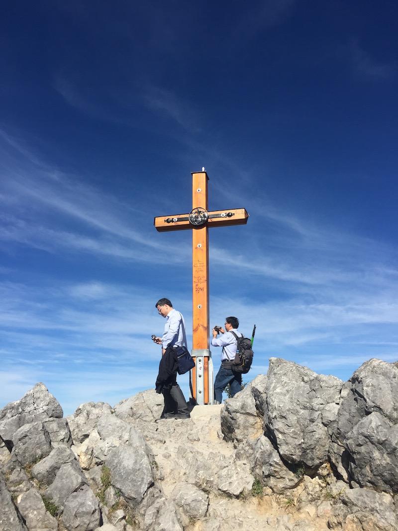 Gipfelkreuz auf dem Jenner am Königssee