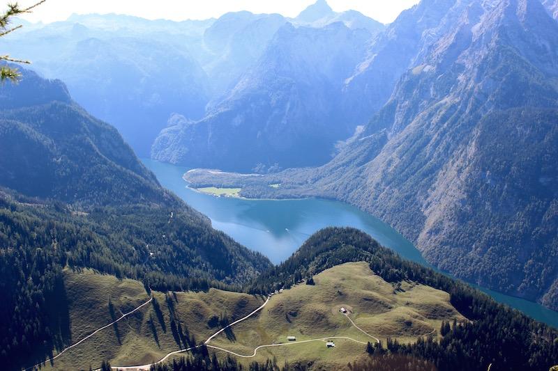 Ausblick vom Kennergipfel auf Königssee und Watzmann