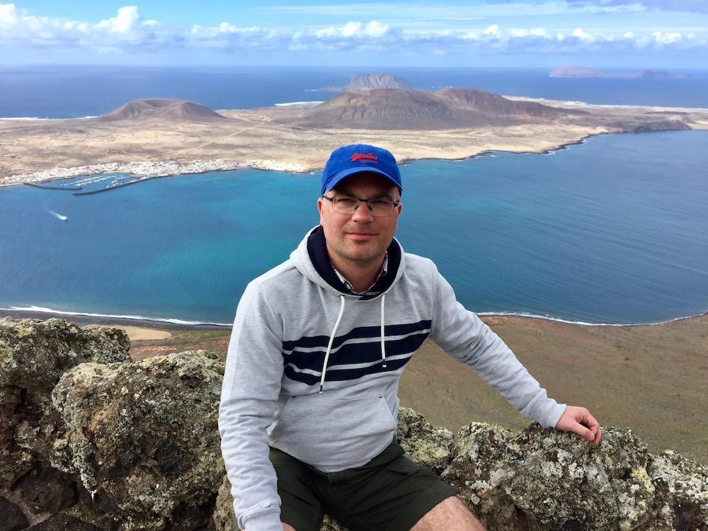Aussicht vom Mirador del Rio auf die Insel La Graciosa
