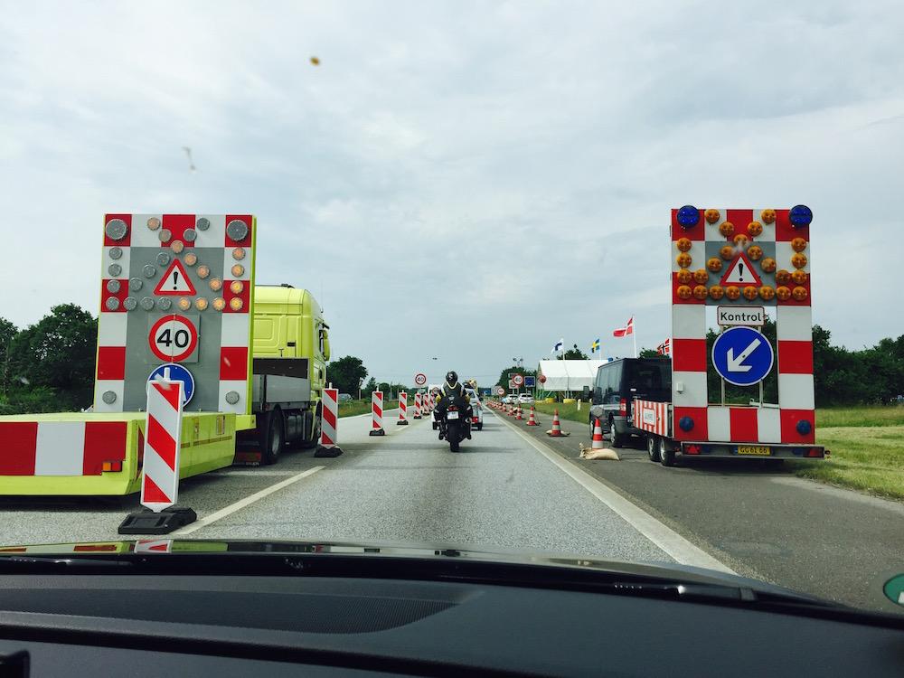 Grenzübergang zwischen Deutschland und Dänemark