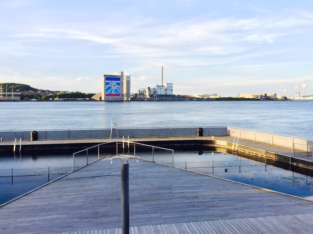 Aalborg Hafenbad - Freibad direkt in der Stadtmitte an der neuen Hafenfront