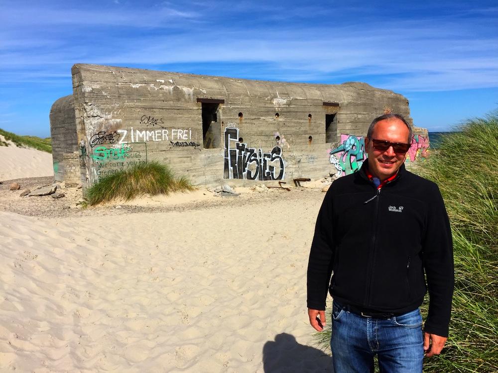 Die Bunker in Grenen stammen aus dem Zweiten Weltkrieg
