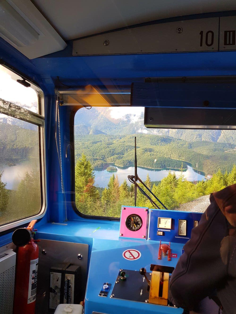 Eibsee - Fantastischer Ausblick aus der Zugspitzbahn