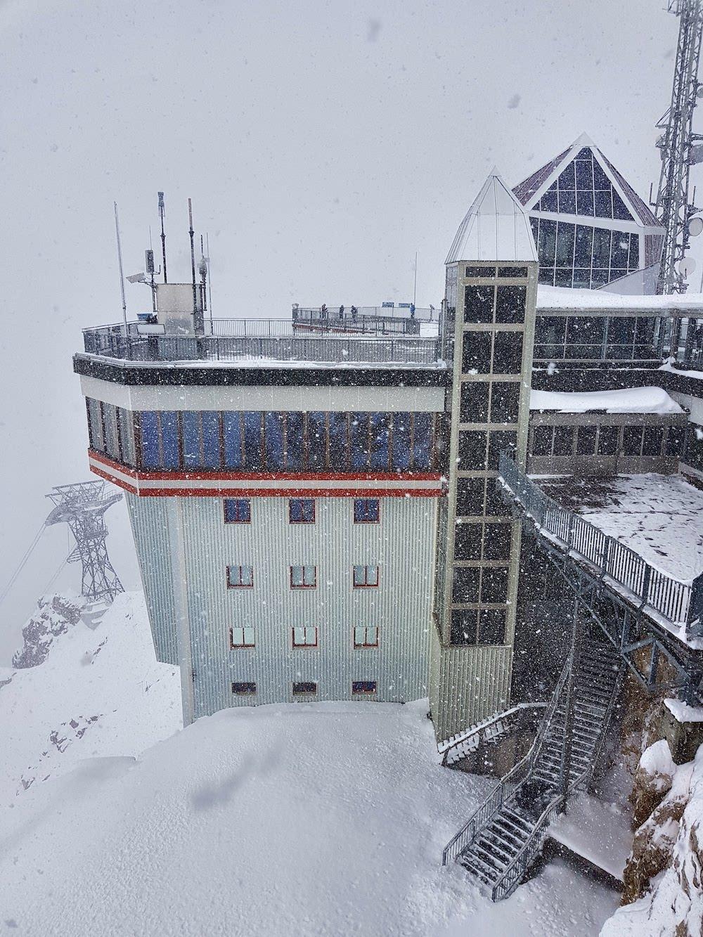 Auf der Zugspitze - Schnee im September