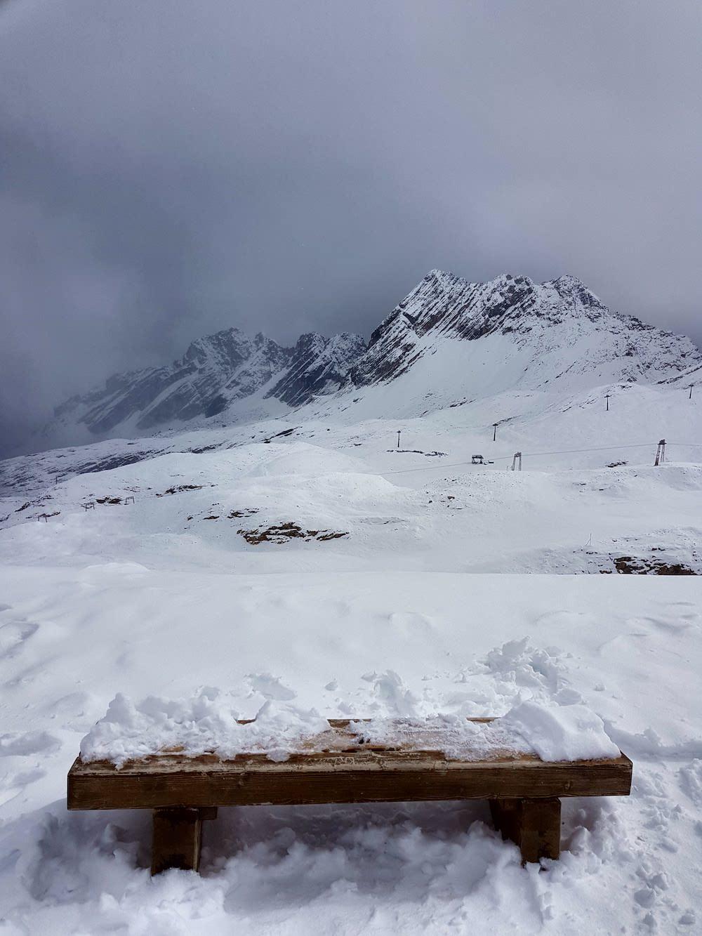 Winter im September - auf dem Zugspitzplatt liegt bereits Schnee