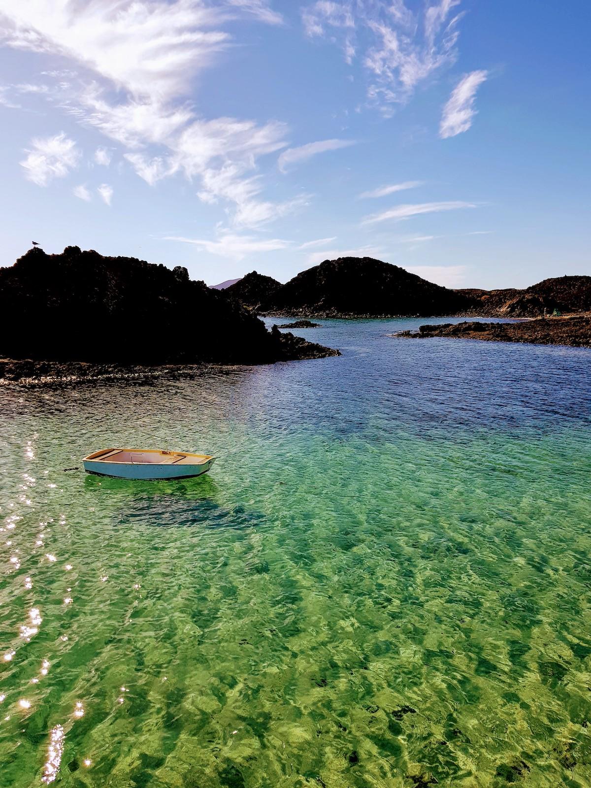 Lagune bei El Puertito - kristallklares, türkises Wasser wie in der Südsee!