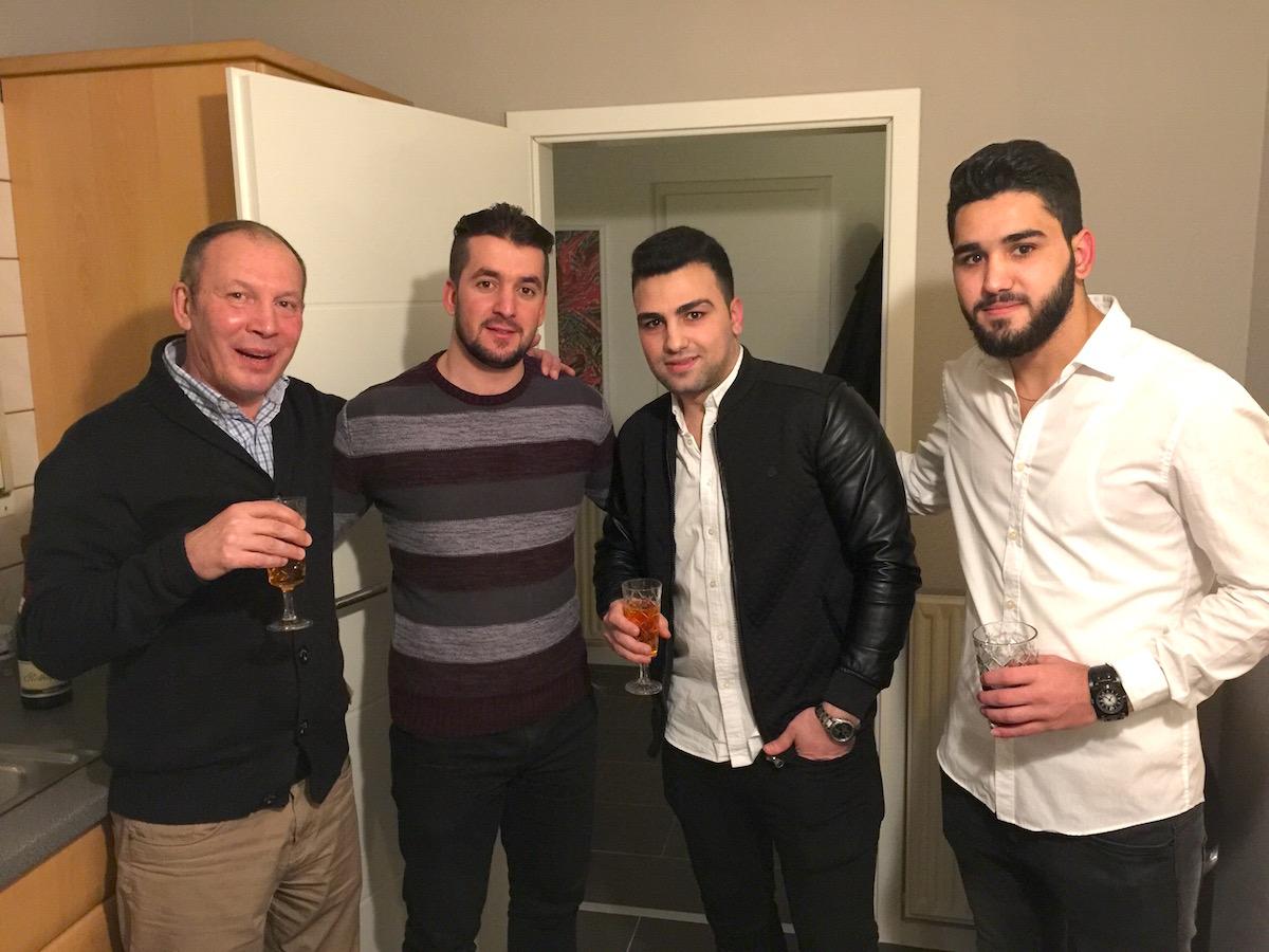 Flüchtlinge Silvester-Party 2016/2017