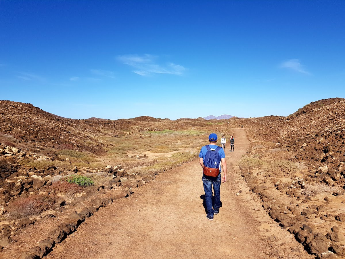 Wanderweg auf Isla de Lobos