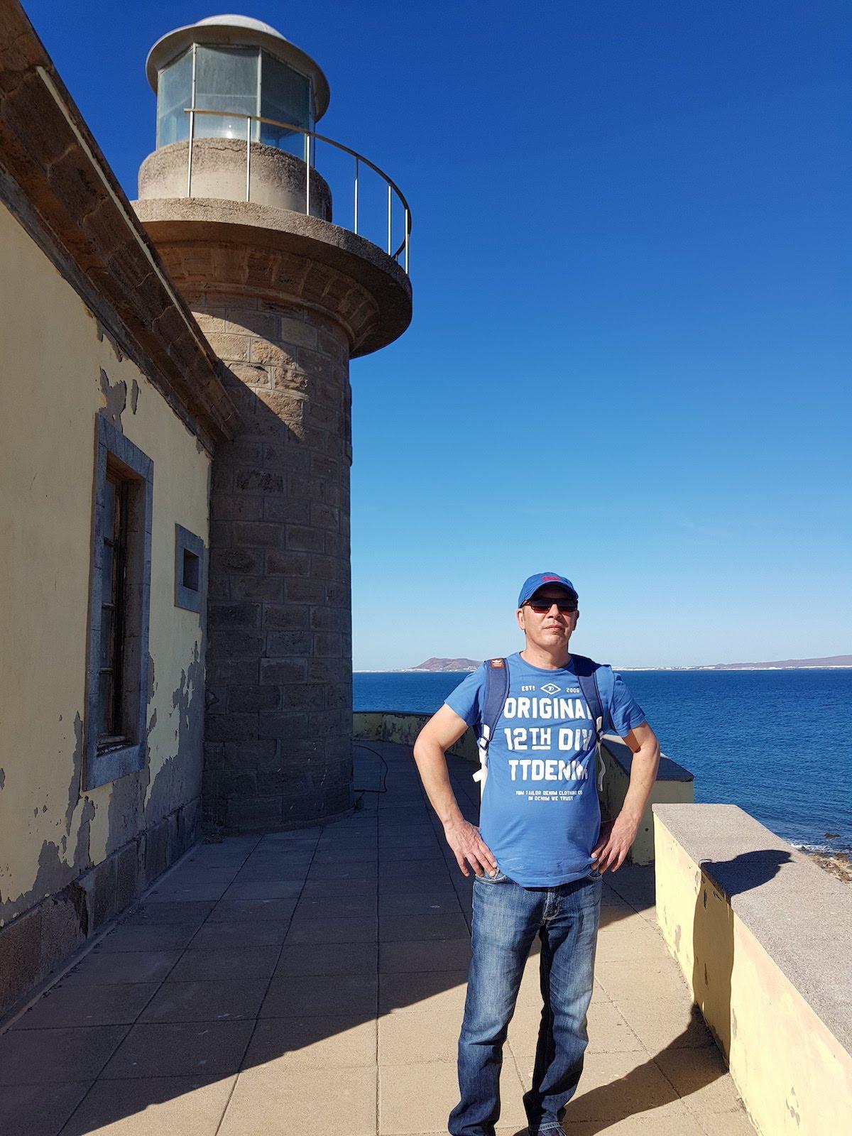 Leuchtturm Faro de Martiño an der Nordküste von Lobos