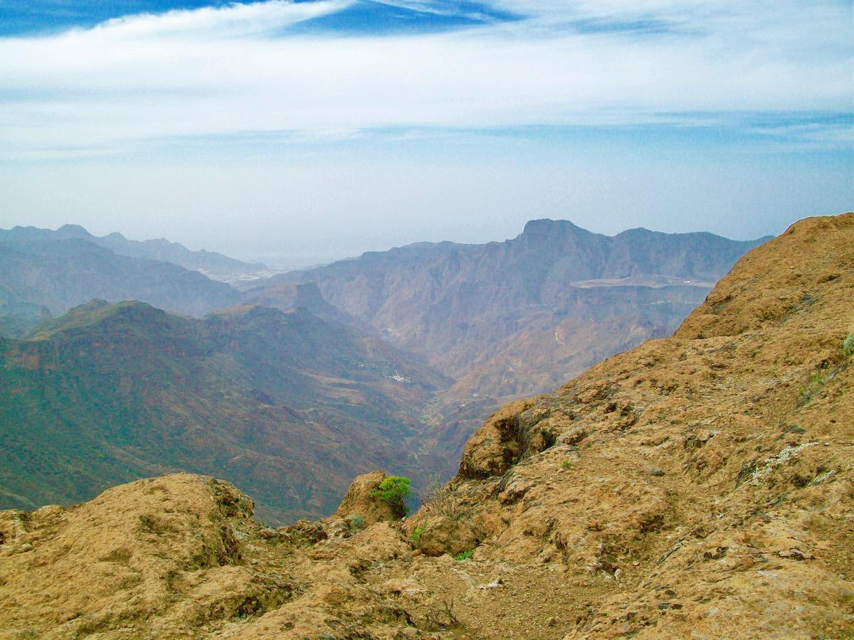 Die Aussicht von Roque Nublo ist in jede Richtung spektakulär