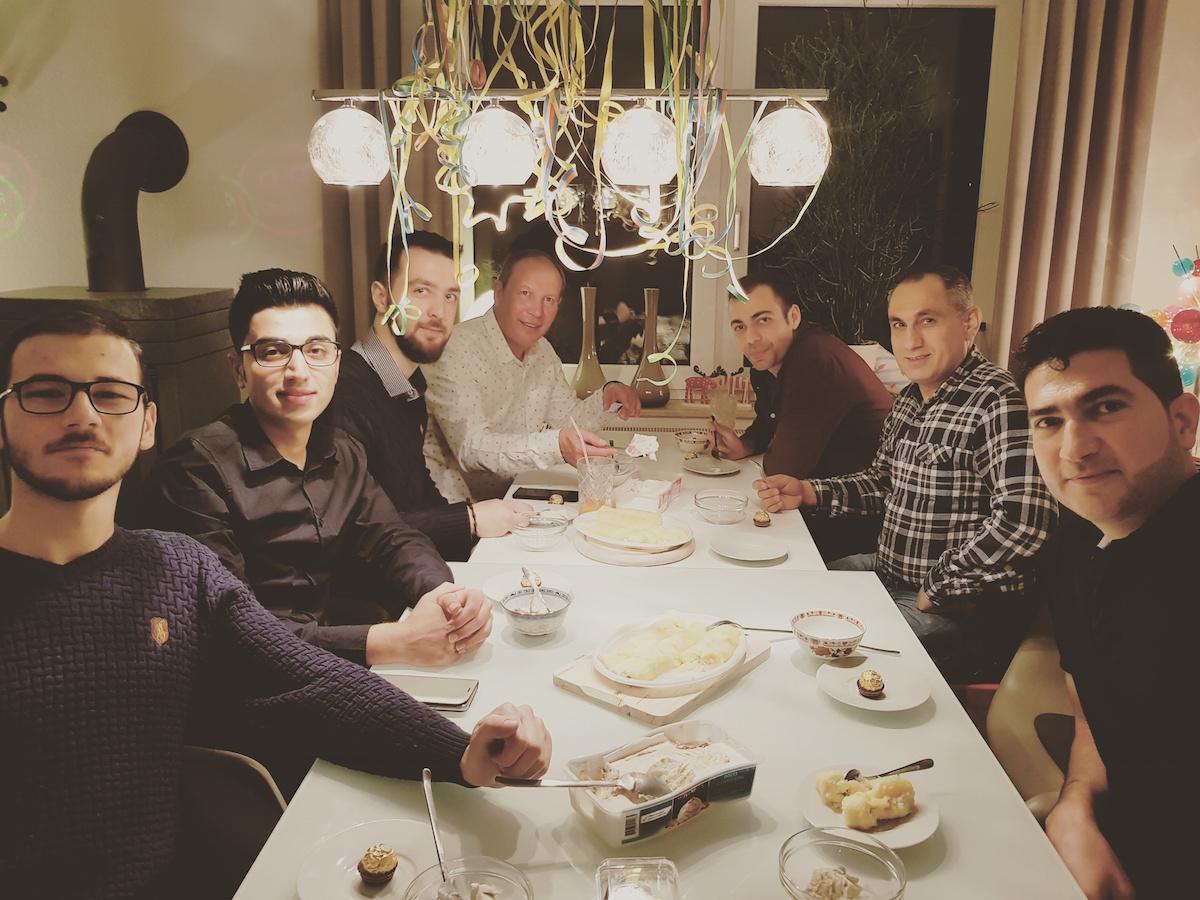 Silvester 2017/2018: Fondue mit unseren Freunden aus Syrien