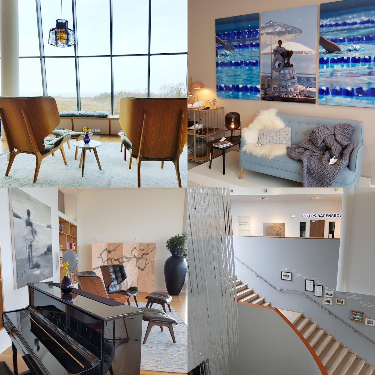 Designermöbel und Kunstwerke verschiedener Künster/-innen können sogar käuflich erworben werden