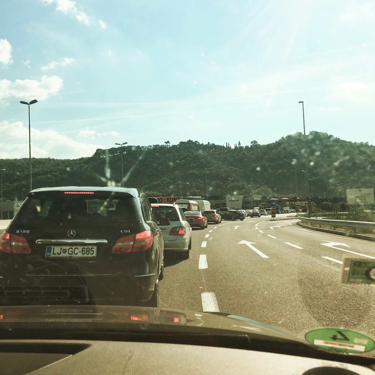 Kroatien-Roadtrip: Grenzübergang zwischen Slowenien und Kroatien