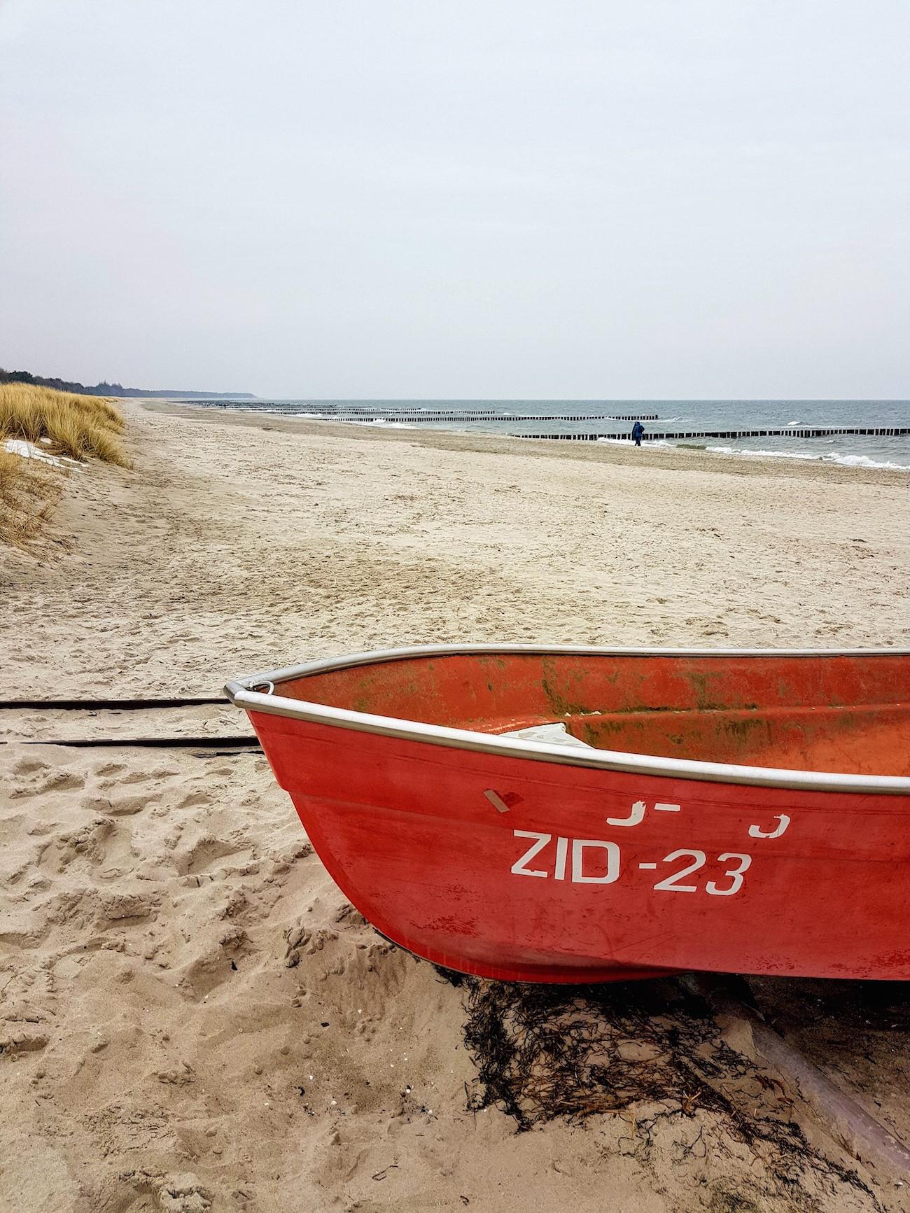 Einsamer Ostsee-Strand: Winter in Zingst
