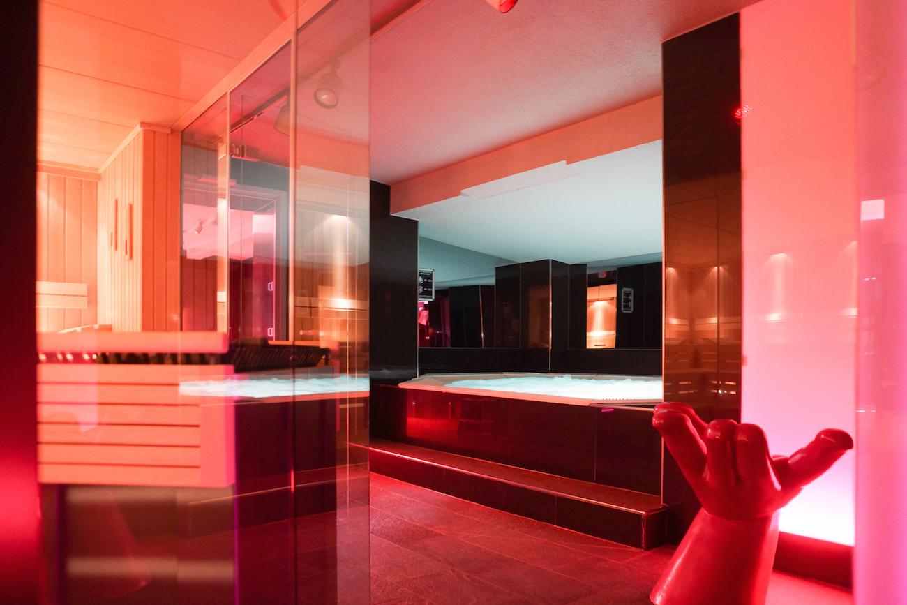 Sauna und Whirlpool der Schwulensauna in München