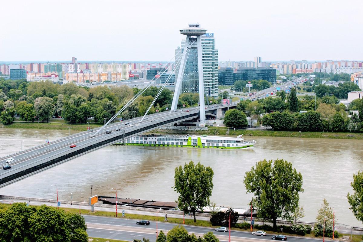 Brücke des Slowakischen Nationalaufstandes über die Donau in Bratislava