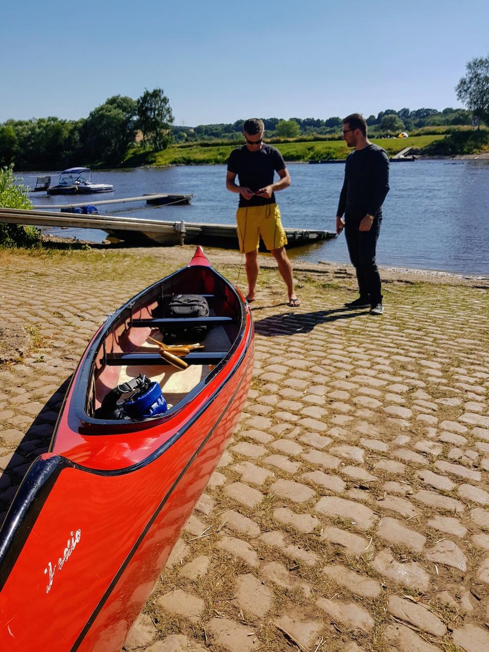 Weser-Kanutour: Paddeln von Bad Oeynhausen nach Minden