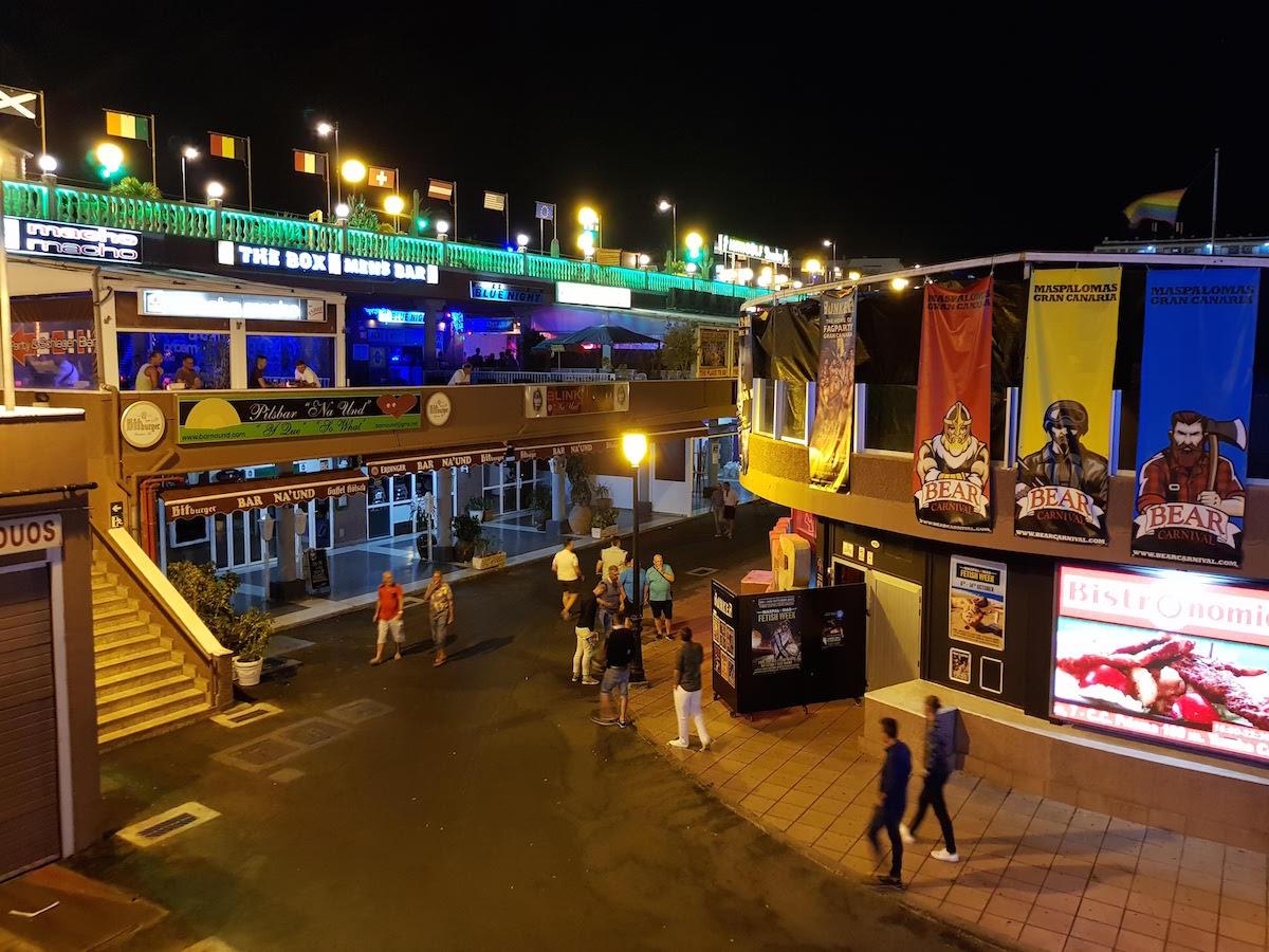 Das Yumbo Center in Playa del Ingles ist einer der beliebtesten Treffpunkte für schwule Männer